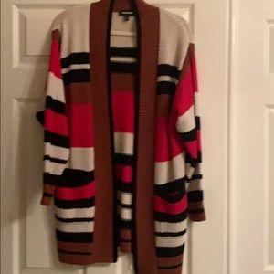 Express striped cardigan sweater